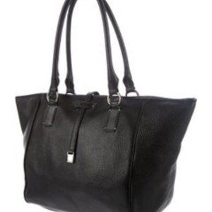 Tiffany & Co. Black Pebbled Leather Tote